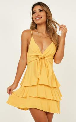 Showpo Face The Sun dress in mustard - 8 (S) Casual Outfits