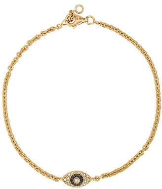 Alinka ALINKA Evil Eye 18kt gold and diamond bracelet