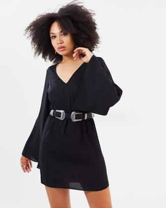 Missguided Kimono Sleeve Dress