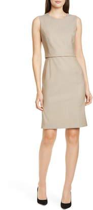 BOSS Dutara Wool Sheath Dress