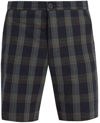 Checked Cotton Drawstring Shorts Oliver Spencer A8bh06rY