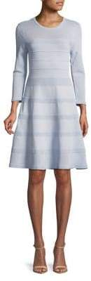 Vince Camuto Long-Sleeve Knit Fit-and-Flare Dress