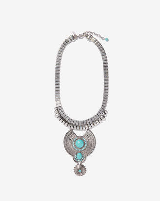 Express Turquoise Stone Statement Necklace