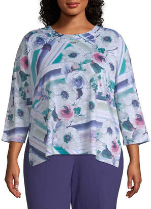 Alfred Dunner Comfortable Situation Watercolor Floral Tee - Plus