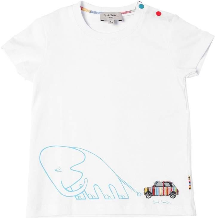 T-Shirt Aus Baumwolljersey Mit Elefantendruck