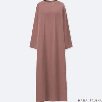 Uniqlo Women's Flare Long-sleeve Long Dress (hana Tajima)