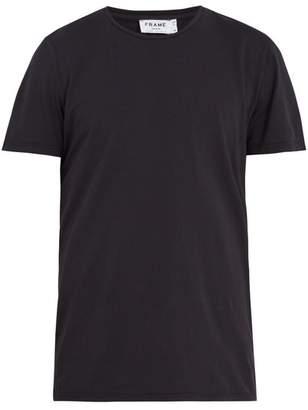 Frame - Crew Neck Cotton Jersey T Shirt - Mens - Navy