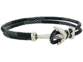 Steve Madden Ombre Braided Leather Bracelet with Anchor Hook