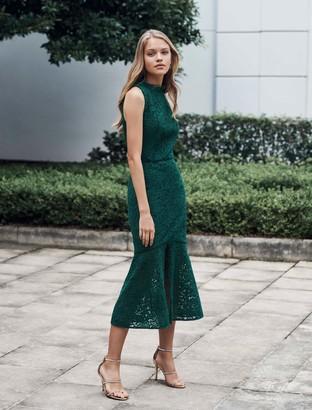 Forever New Rikki Lace Fishtail Dress - Green - 4