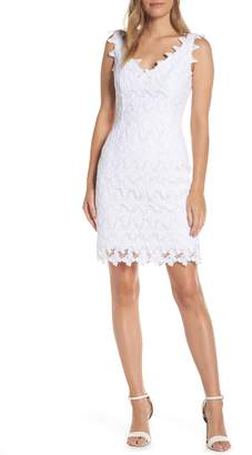 Lilly Pulitzer R) Reeve Lace Sheath Dress