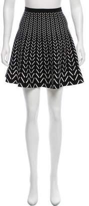 Ohne Titel Flared Knit Skirt
