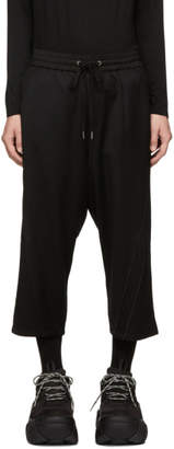 D.gnak By Kang.d Black Double Piping Trousers