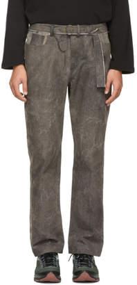 St Henri St-Henri SSENSE Exclusive Grey and Black Garage Jeans