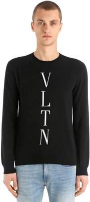 Valentino Logo Intarsia Wool & Cashmere Sweater