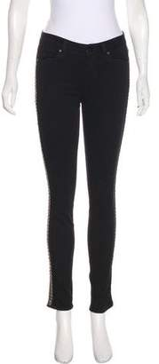 Paige Mid-Rise Embellished Jeans