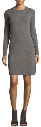 Neiman Marcus Cashmere Collection Cashmere Crewneck Sweater Dress $350 thestylecure.com