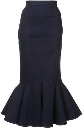 Julien David woven fishtail skirt