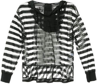 Marc Cain sheer striped blouse