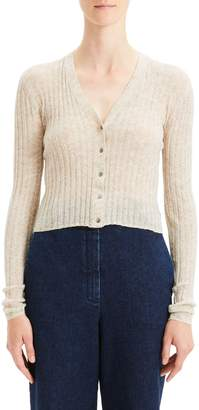 Theory Crop Rib Cardigan
