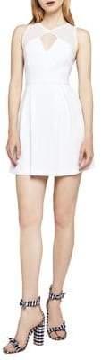 BCBGeneration Sleeveless Mixed-Media Pleated Dress