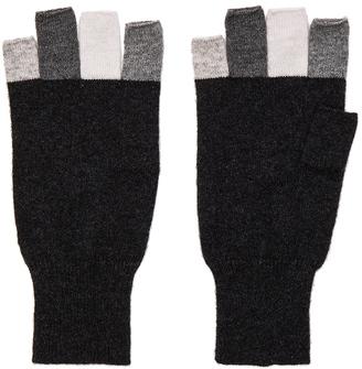 Autumn Cashmere Multi Fingerless Glove $99 thestylecure.com