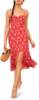 Reformation Cybill Button Front Sundress