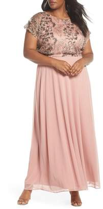 Marina Lace A-Line Gown