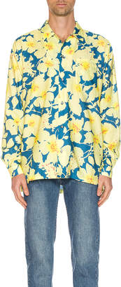 Double Rainbouu DOUBLE RAINBOUU Long Sleeve Hawaiian Shirt in Cloud Control Lavender | FWRD