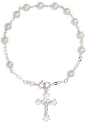 Kardee Jewelry Kardee Kids Sterling Silver & Cultured Pearl Rosary
