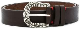 Eleventy engraved buckle belt