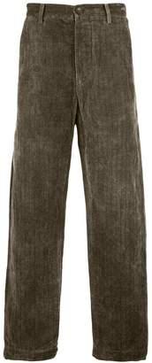 Ziggy Chen pinstripe wide leg trousers