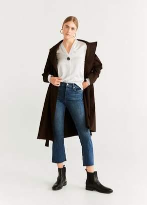 MANGO Blucked flowy blouse off white - 4 - Women