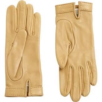 Hermes Beige Leather Gloves