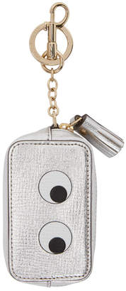 Anya Hindmarch Silver Eyes Coin Purse Keychain