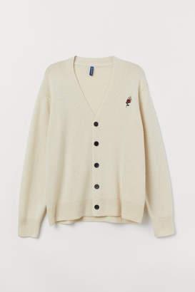 H&M Wool-blend Cardigan - Beige