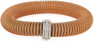 Alor Kai Steel & 18k Gold Diamond Spring-Coil Bangle