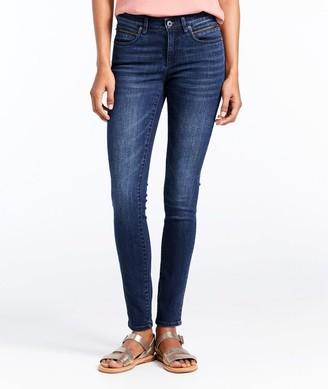 L.L. Bean L.L.Bean Women's Signature Premium Skinny Jeans, Zip Pocket Ankle