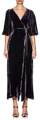 Juan Carlos Obando Women's Velvet Wrap Gown