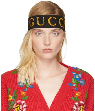 Gucci Black Logo Headband $255 thestylecure.com