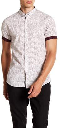 Report Collection Ditsy Floral Short Sleeve Slim Fit Shirt