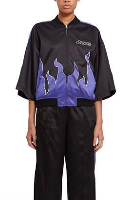 Opening Ceremony Reversible Flames Kimono Bomber Jacket