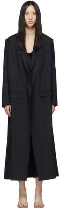 Rokh Navy Tailored Slits Coat
