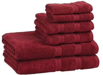 Superior Super Soft and Absorbent 100% Cotton Zero Twist Smart Dry 6PC Towel Set