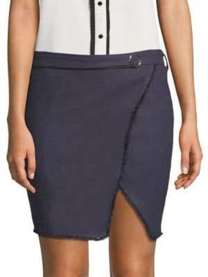 J.o.a. Frayed Linen Mini Skirt