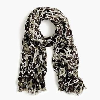J.Crew Midseason scarf in leopard