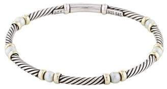 David Yurman Pearl Cable Link Bracelet