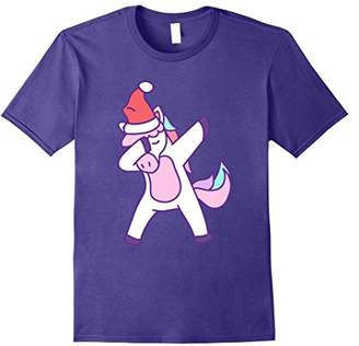 Dabbing Santa Hat Unicorn Dancing Christmas Funny Gift Shirt