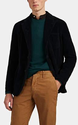 Massimo Alba Men's Cotton Corduroy Two-Button Sportcoat - Dark Gray