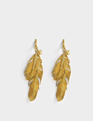 Versace Tribute Native American Earrings in Gold Brass
