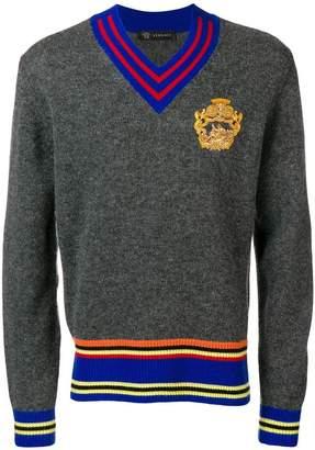 Versace contrast trim sweater